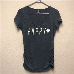 [Old Navy] Happy Maternity Scoop Neck T-shirt